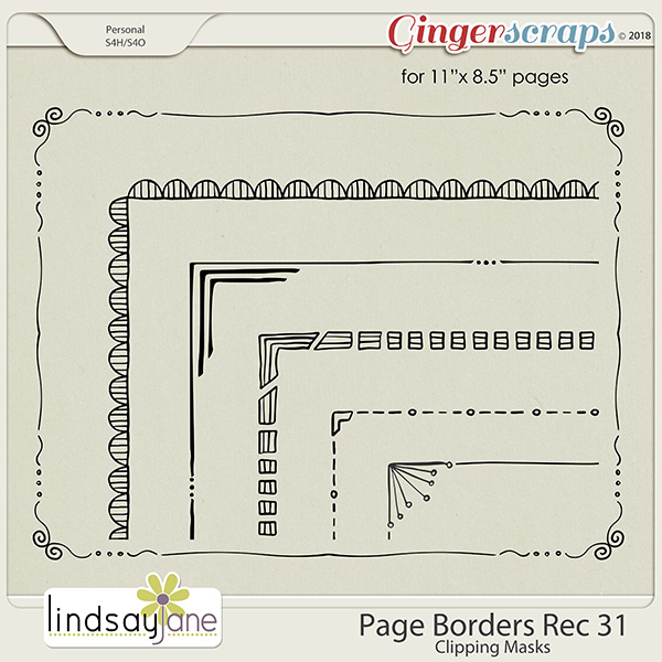 Page Borders Rec 31 by Lindsay Jane