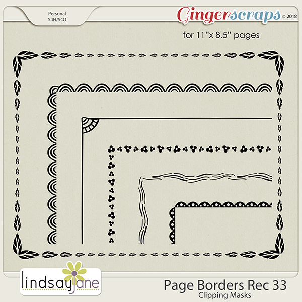 Page Borders Rec 33 by Lindsay Jane