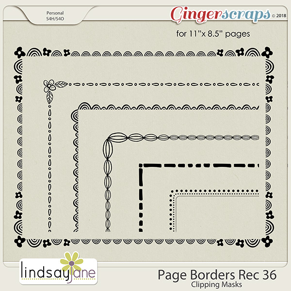 Page Borders Rec 36 by Lindsay Jane