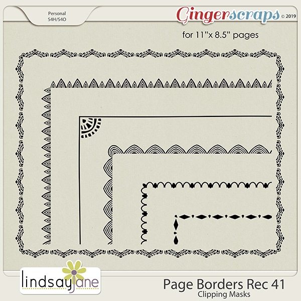 Page Borders Rec 41 by Lindsay Jane
