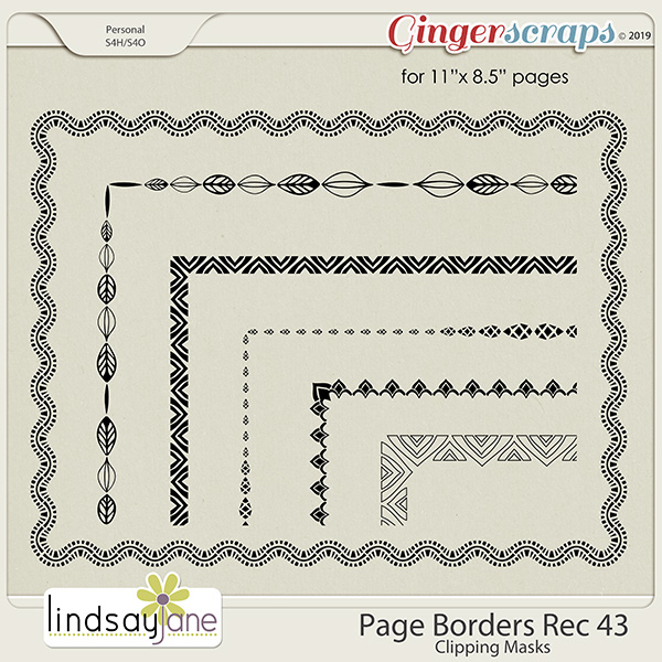 Page Borders Rec 43 by Lindsay Jane