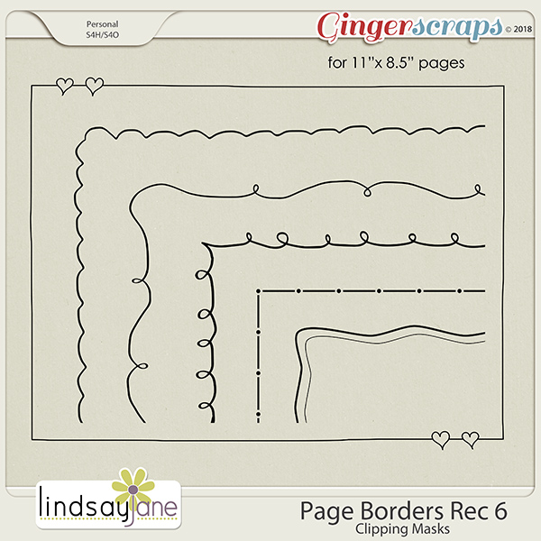 Page Borders Rec 6 by Lindsay Jane