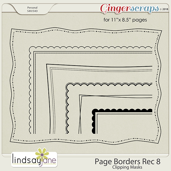 Page Borders Rec 8 by Lindsay Jane