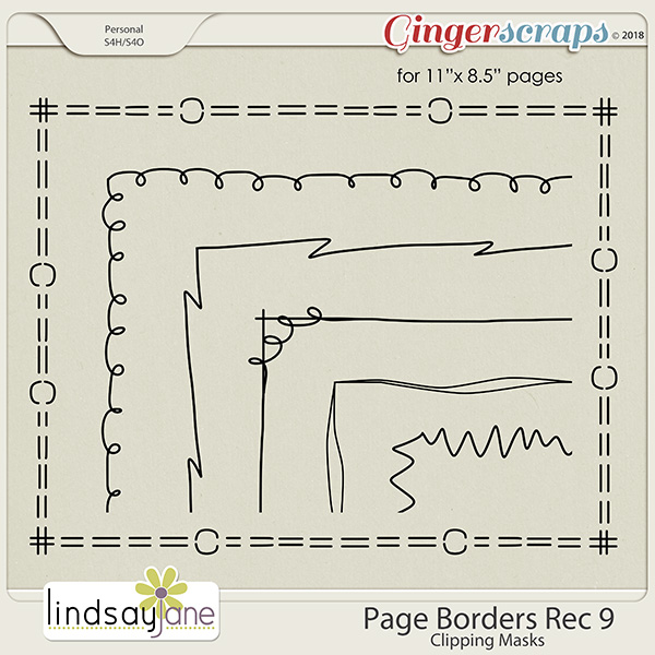 Page Borders Rec 9 by Lindsay Jane