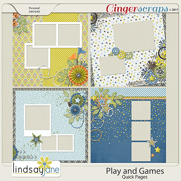 Play and Games Quick Pages by Lindsay Jane