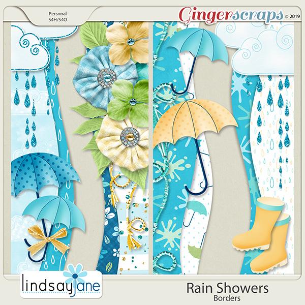 Rain Showers Borders by Lindsay Jane