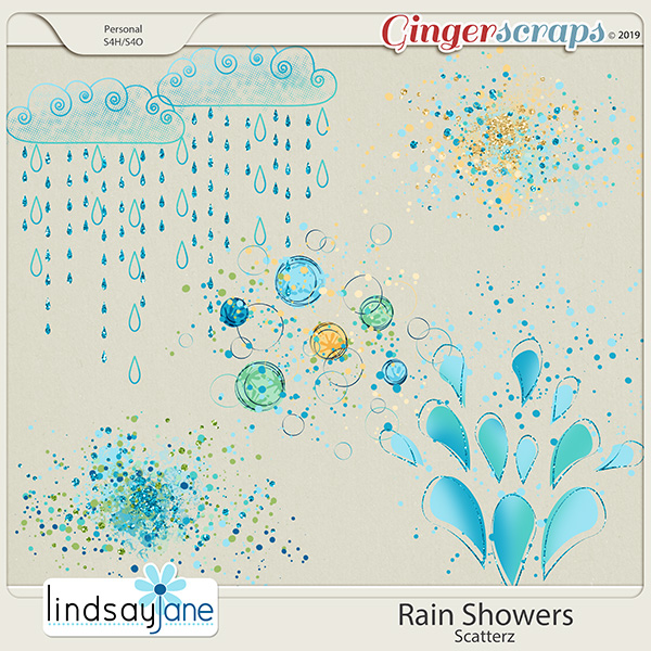 Rain Showers Scatterz by Lindsay Jane