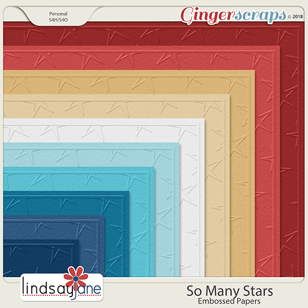 So Many Stars Embossed Papers by Lindsay Jane