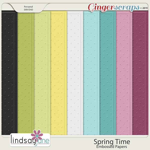 Spring Time Embossed Papers by Lindsay Jane