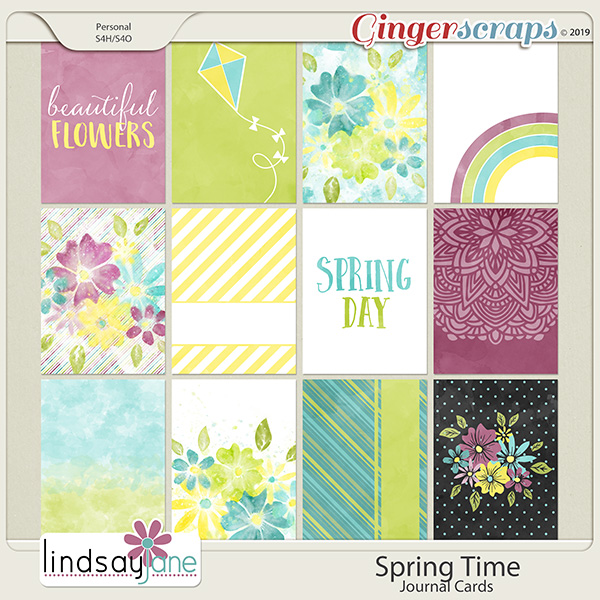 Spring Time Journal Cards by Lindsay Jane