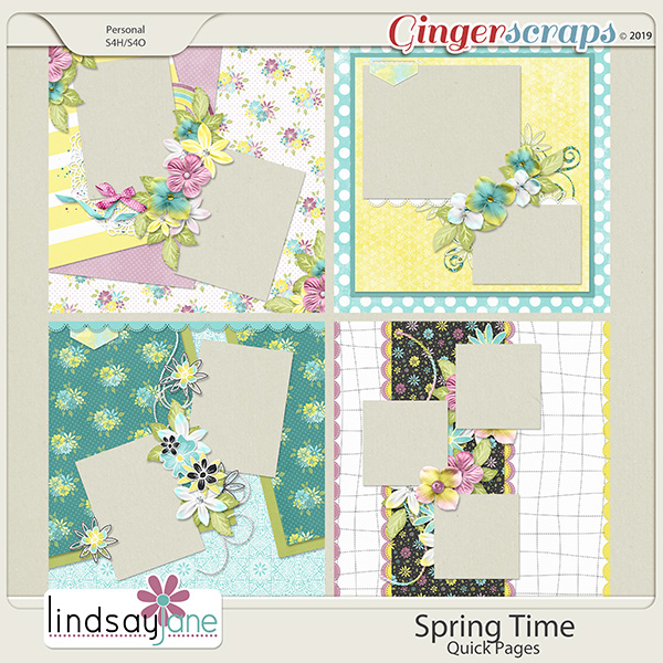Spring Time Quick Pages by Lindsay Jane