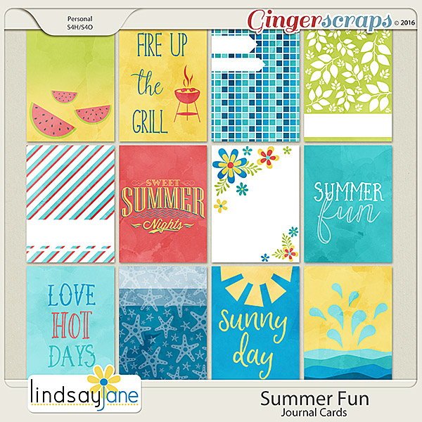Summer Fun Journal Cards by Lindsay Jane