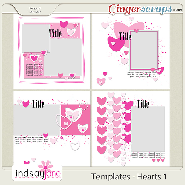 Templates - Hearts 1 by Lindsay Jane
