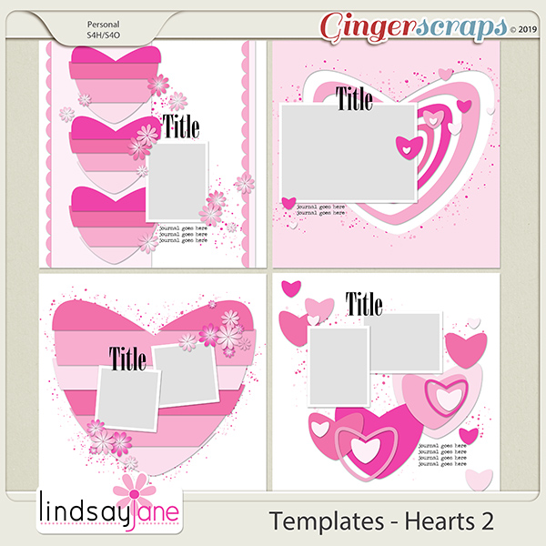 Templates - Hearts 2 by Lindsay Jane