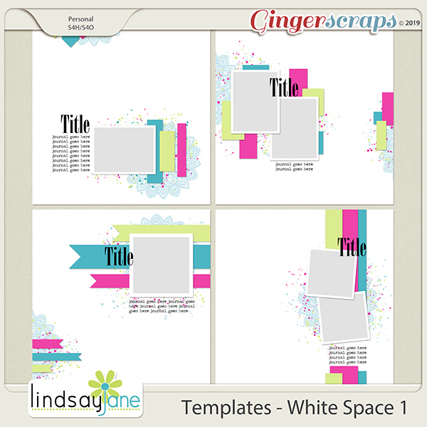 Templates - White Space 1 by Lindsay Jane