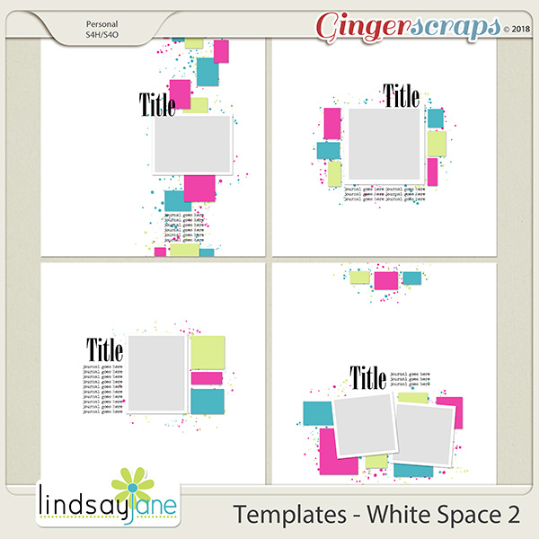 Templates - White Space 2 by Lindsay Jane
