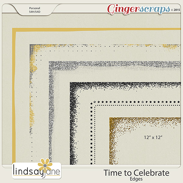 Time to Celebrate Edges by Lindsay Jane