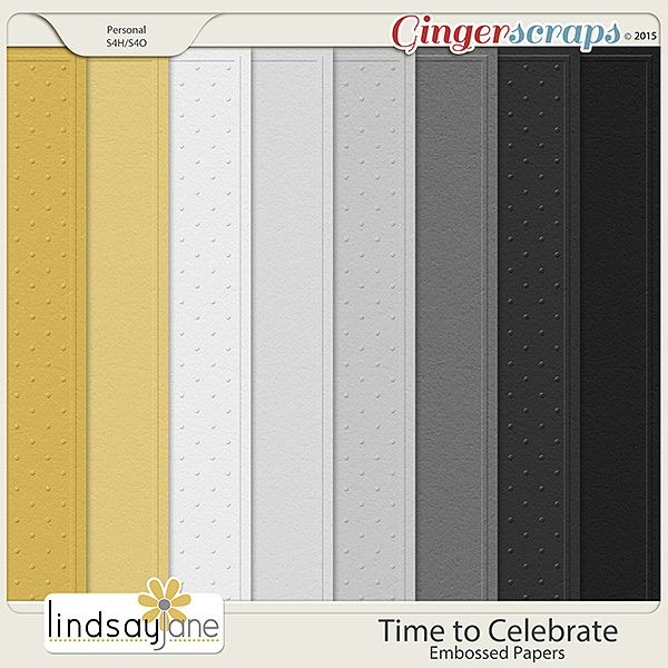 Time to Celebrate Embossed Papers by Lindsay Jane