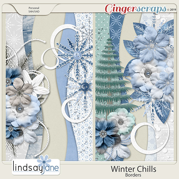 Winter Chills Borders by Lindsay Jane