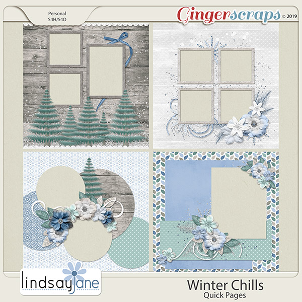 Winter Chills Quick Pages by Lindsay Jane