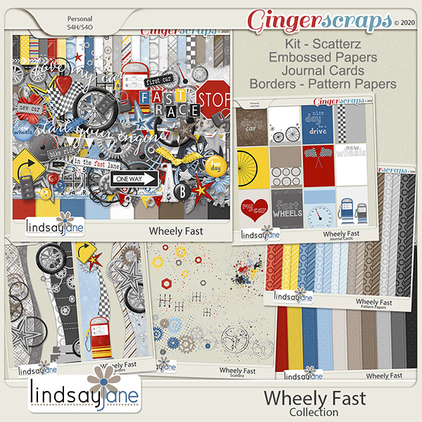 Wheely Fast Collection by Lindsay Jane