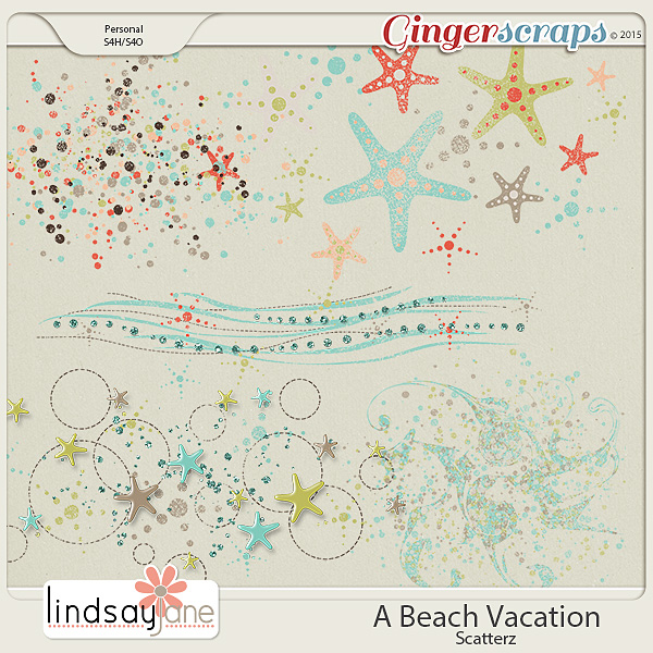 A Beach Vacation Scatterz by Lindsay Jane