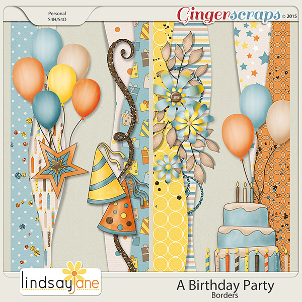 A Birthday Party Borders by Lindsay Jane