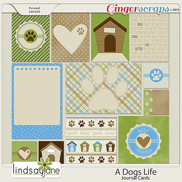 A Dogs Life Journal Cards by Lindsay Jane