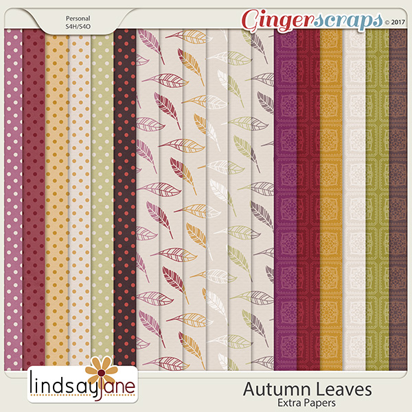 Autumn Leaves Extra Papers by Lindsay Jane