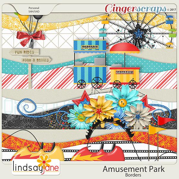 Amusement Park Borders by Lindsay Jane