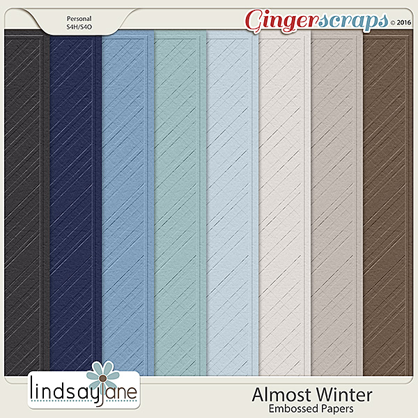 Almost Winter Embossed Papers by Lindsay Jane