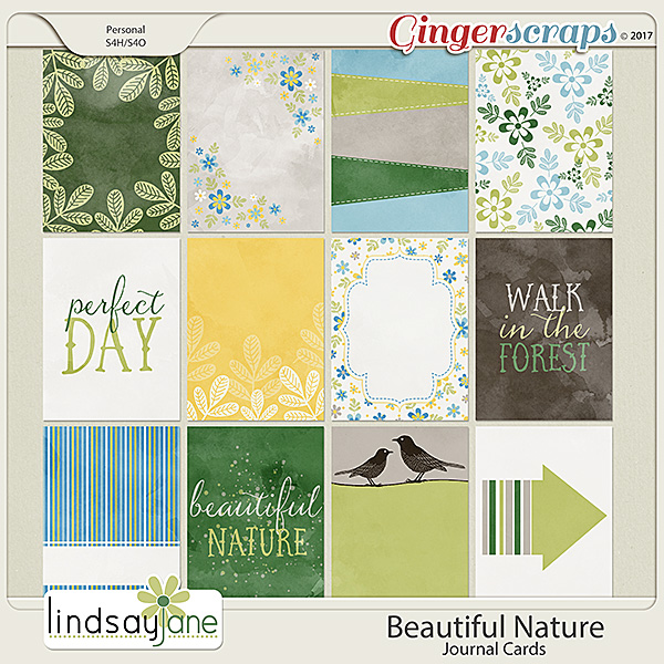 Beautiful Nature Journal Cards by Lindsay Jane