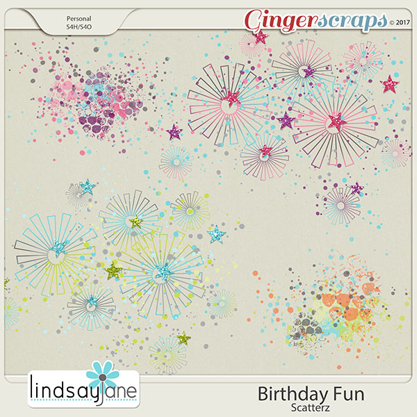 Birthday Fun Scatterz by Lindsay Jane