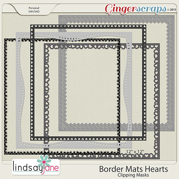 Border Mats Hearts by Lindsay Jane