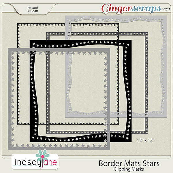 Border Mats Stars by Lindsay Jane