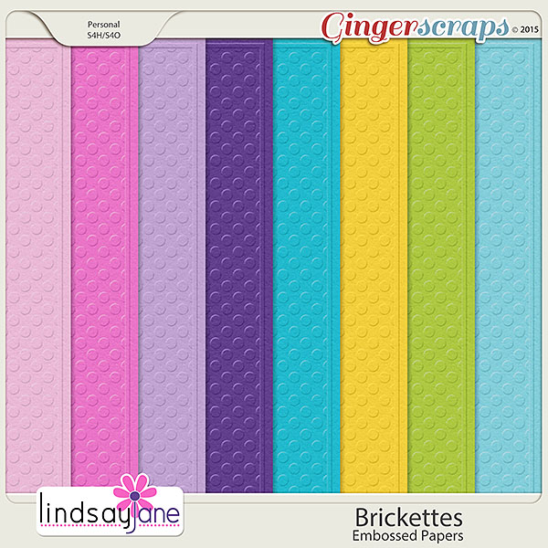 Brickettes Embossed Papers by Lindsay Jane