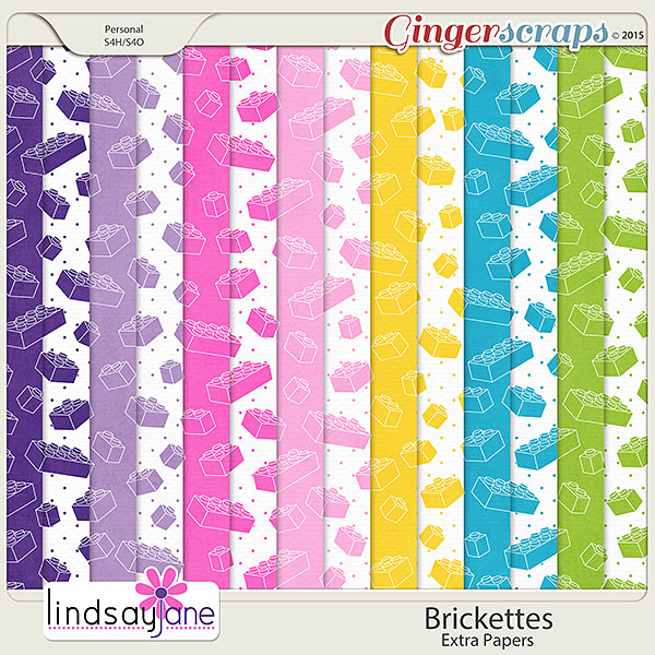 Brickettes Extra Papers by Lindsay Jane