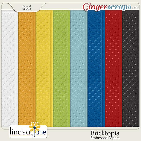 Bricktopia Embossed Papers by Lindsay Jane