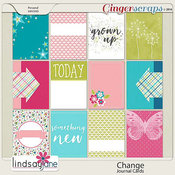 Change Journal Cards by Lindsay Jane