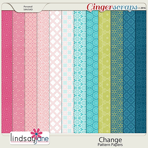 Change Pattern Papers by Lindsay Jane