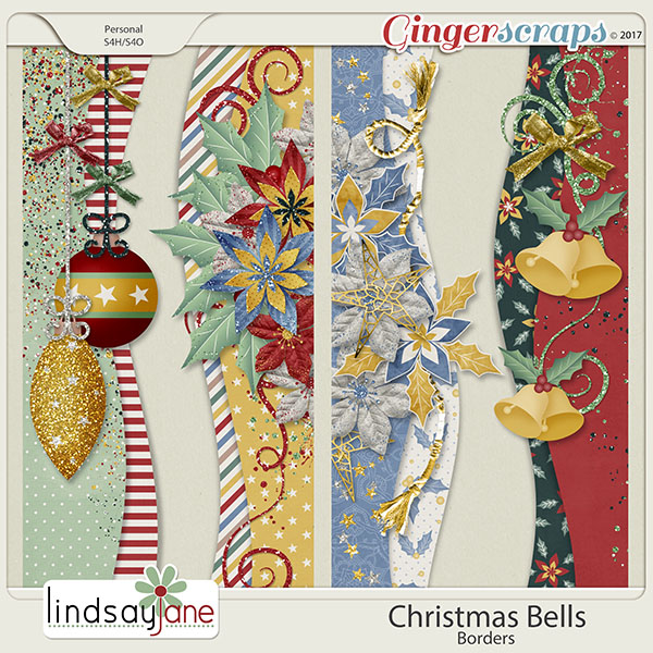 Christmas Bells Borders by Lindsay Jane