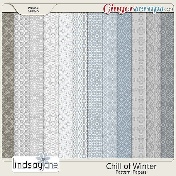 Chill of Winter Pattern Papers by Lindsay Jane