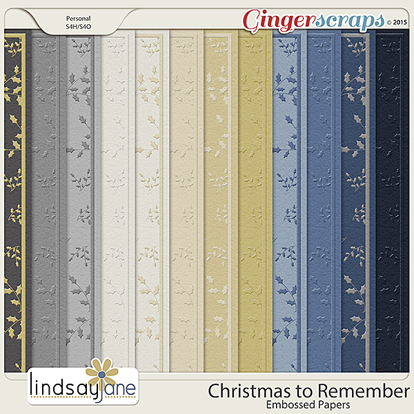 Christmas To Remember Embossed Papers by Lindsay Jane