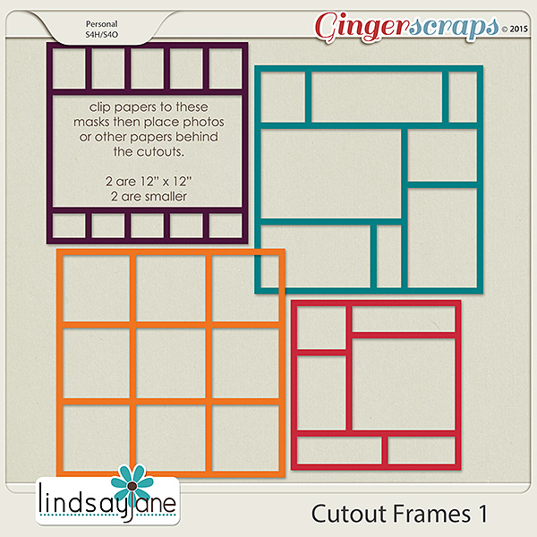 Cutout Frames 1 by Lindsay Jane