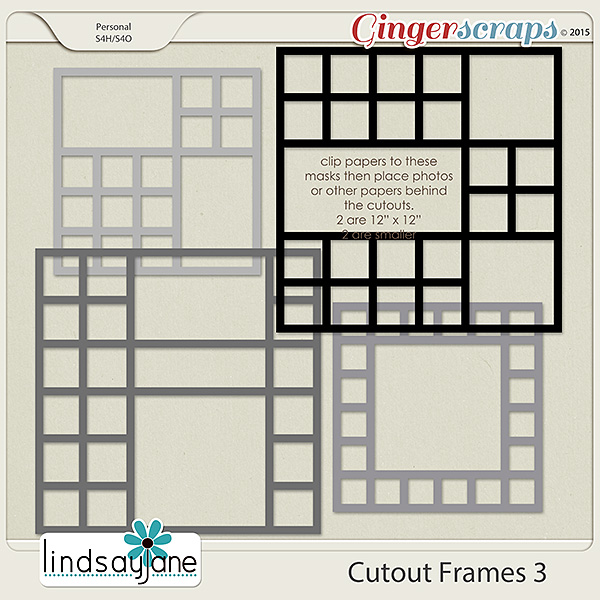 Cutout Frames 3 by Lindsay Jane