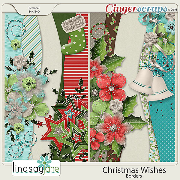 Christmas Wishes Borders by Lindsay Jane
