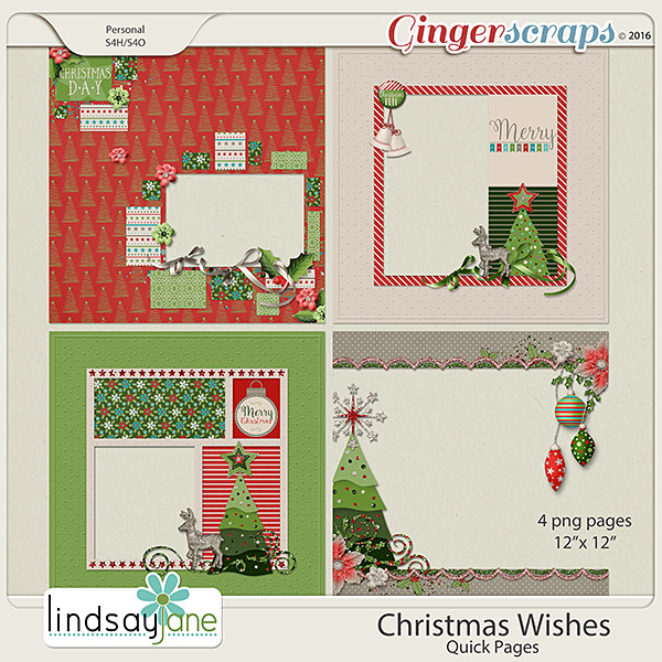 Christmas Wishes Quick Pages by Lindsay Jane