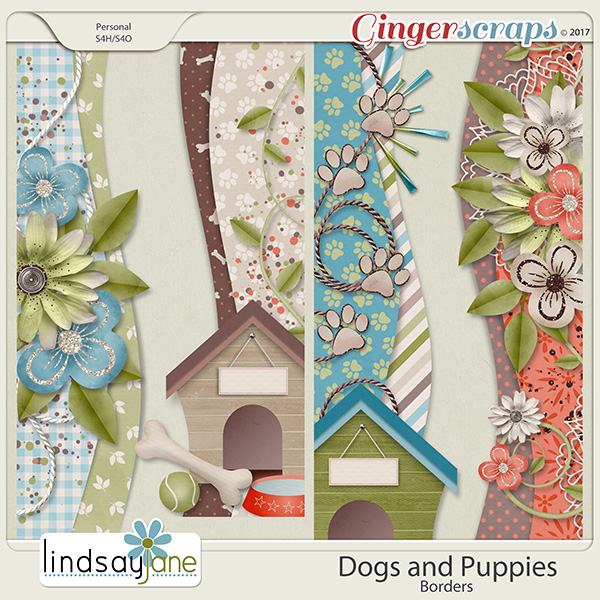 Dogs and Puppies Borders by Lindsay Jane
