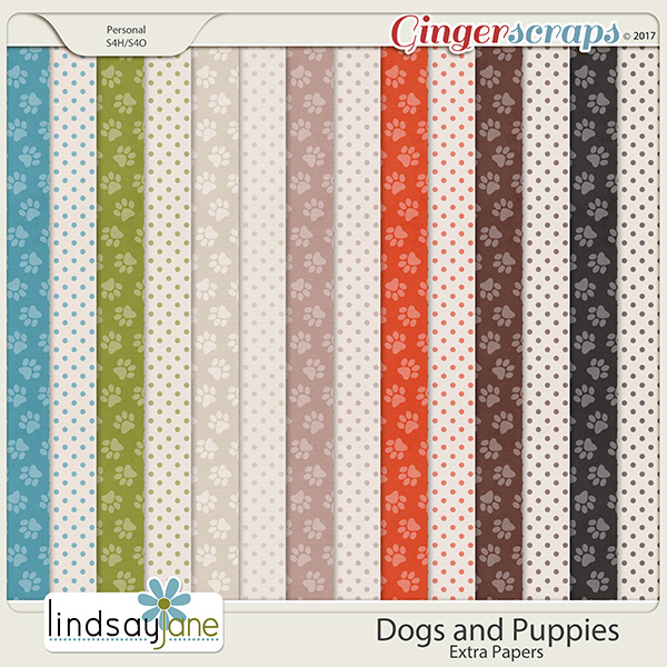 Dogs and Puppies Extra Papers by Lindsay Jane