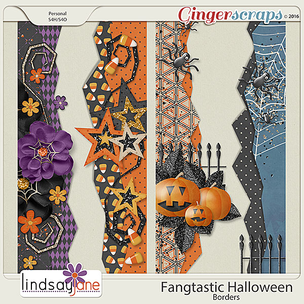 Fangtastic Halloween Borders by Lindsay Jane